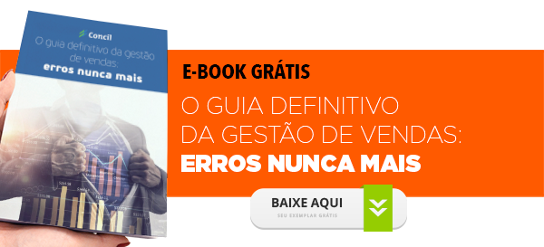 Como gerenciar vendas e evitar os erros mais comuns, que comprometem seus resultados? A Concil explica neste e-book! Baixe o seu grátis.